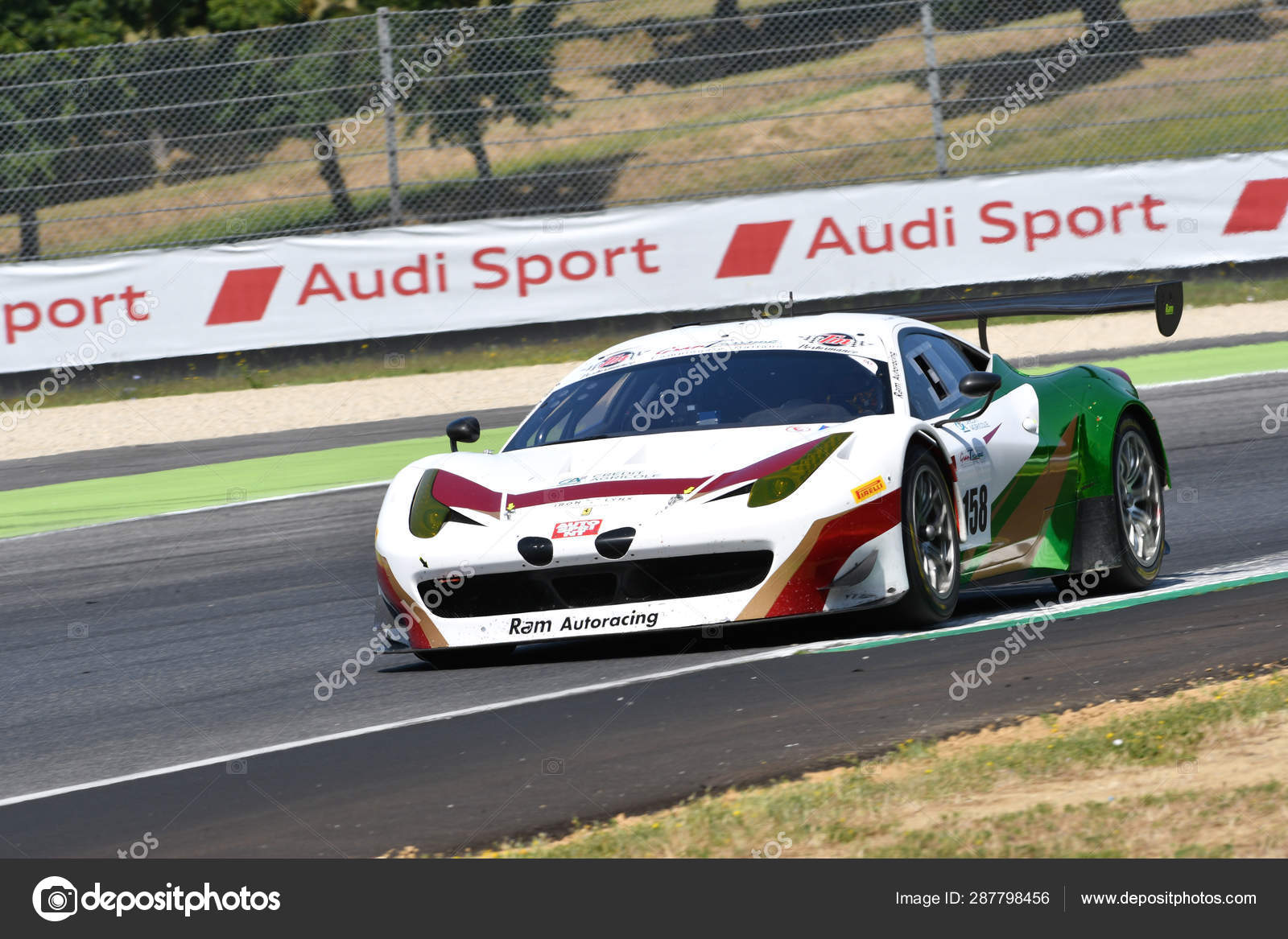 Mugello Circuit Italy July 2019 Ferrari 458 Gt3 Iron Linx Stock Editorial Photo C Dan74 287798456