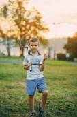 boy in a park