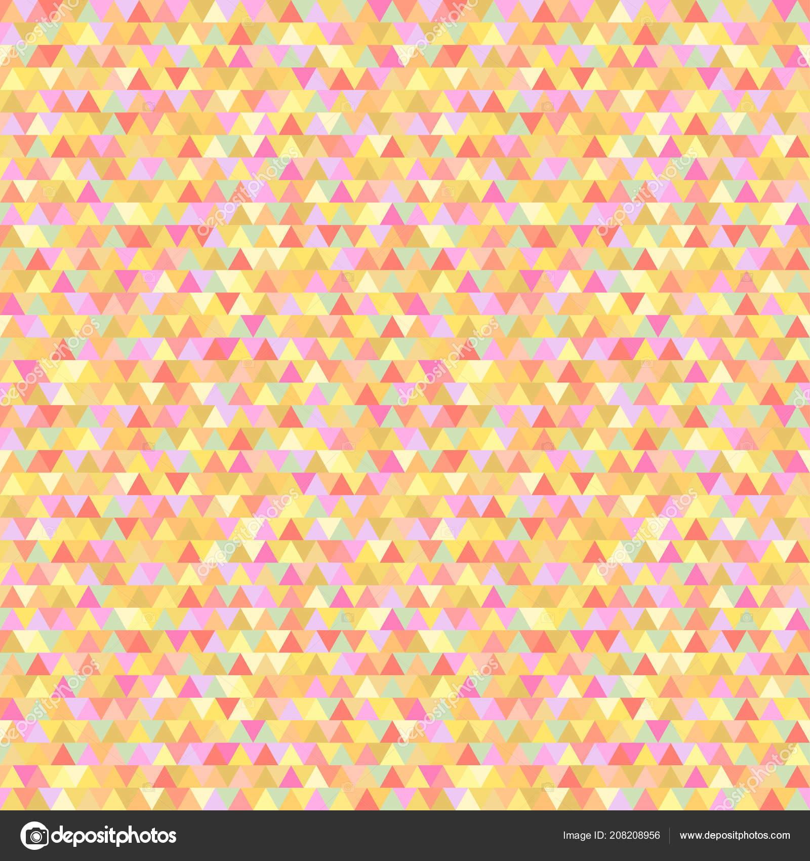 Pastel Geometric Wallpaper Seamless Triangle Pattern