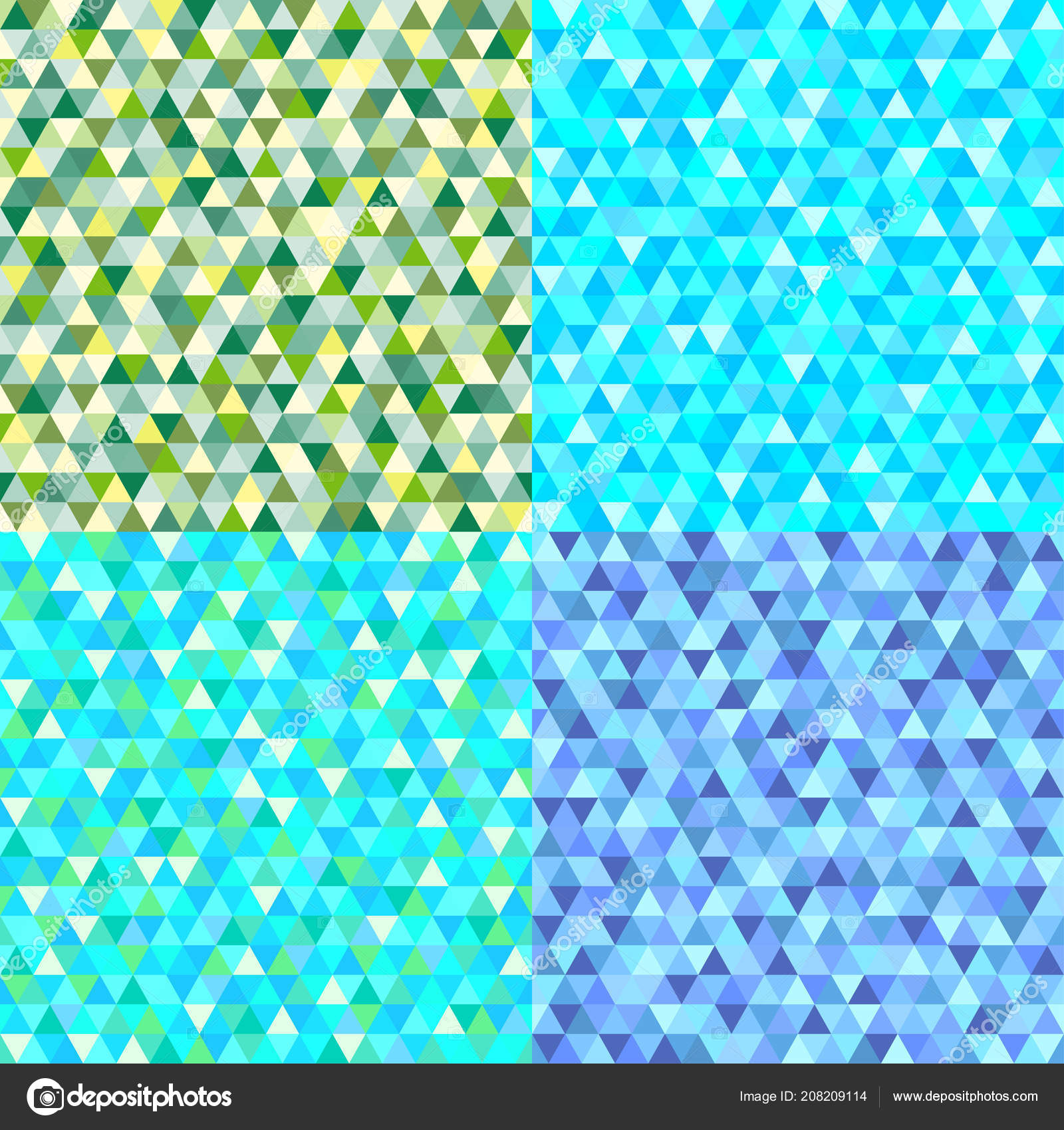 Set Seamless Colored Patterns Cute Colors Abstract Geometric Wallpaper Surface Stock Vector
