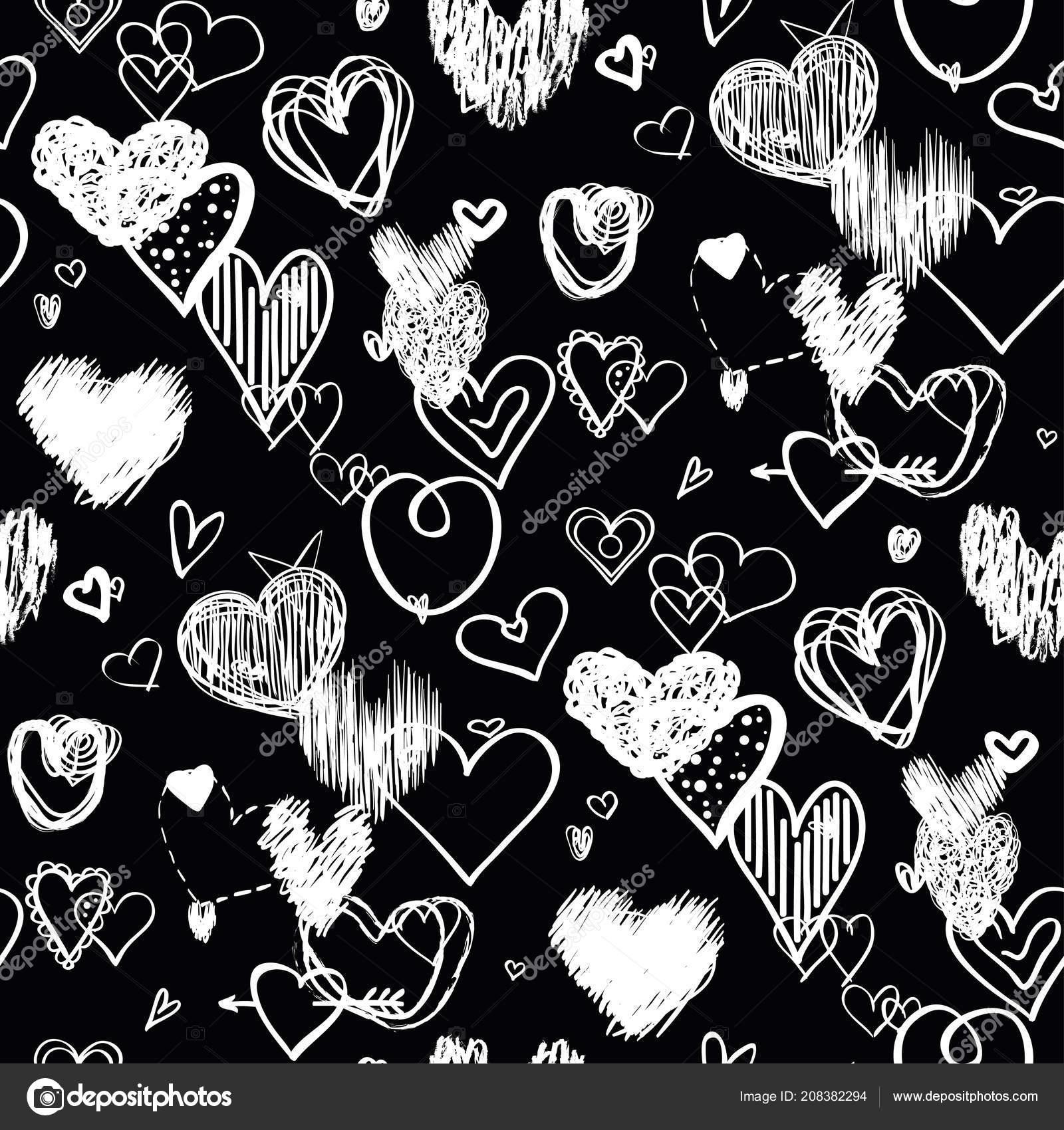 Black Love Art Wallpaper Hearts Black Background Abstract