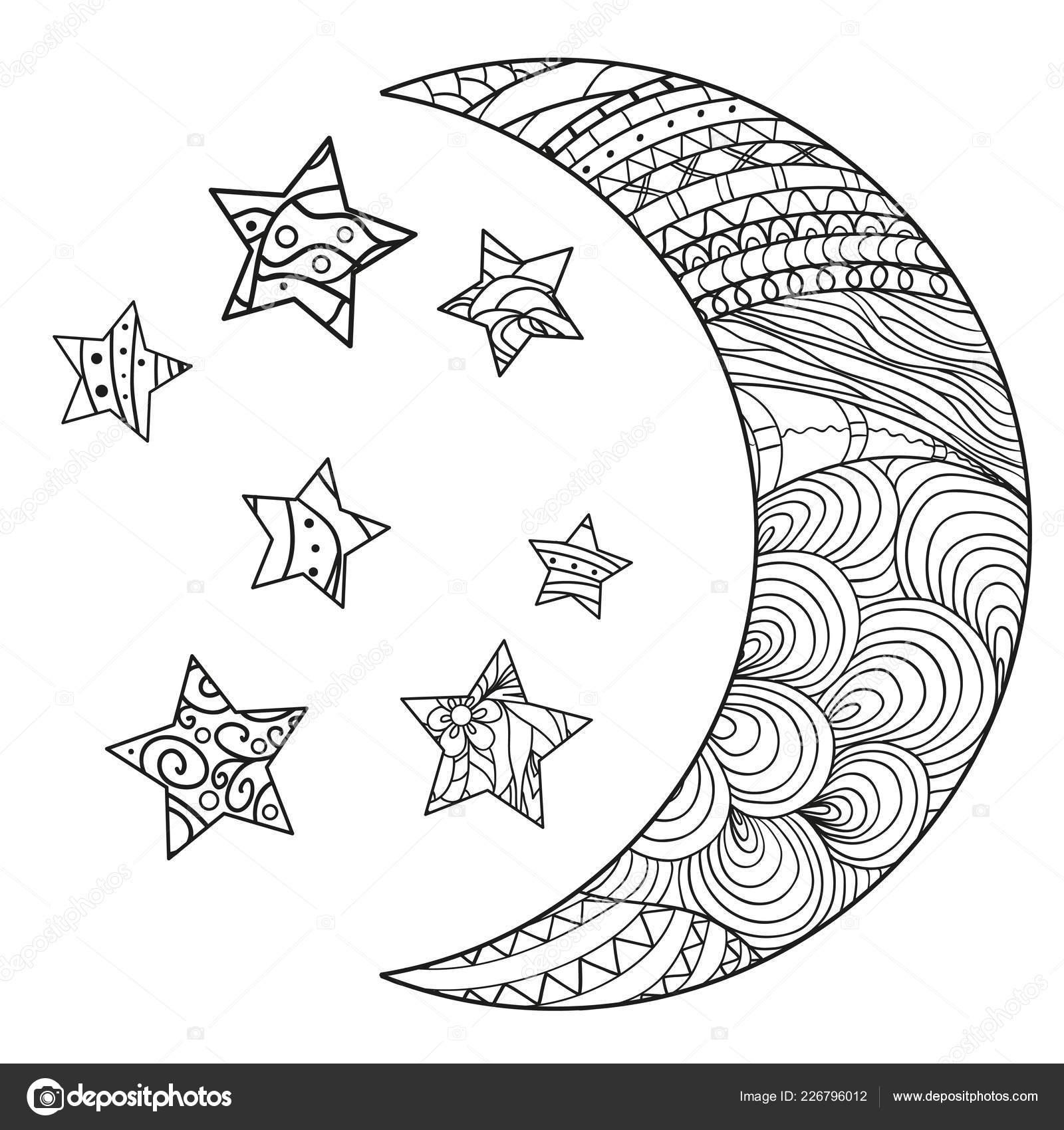 Hilal Beyaz Yıldız Yalıtım Zemin üzerine Soyut Desenleri Ile