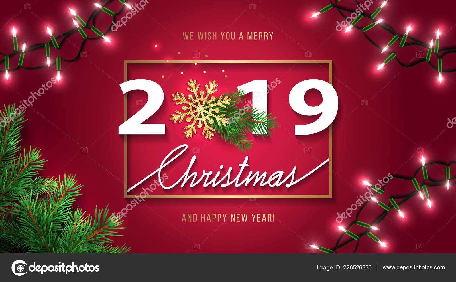 Foto Con Auguri Di Buon Natale.Cartolina Auguri Buon Natale Felice Nuovo Anno 2019 Sfondo