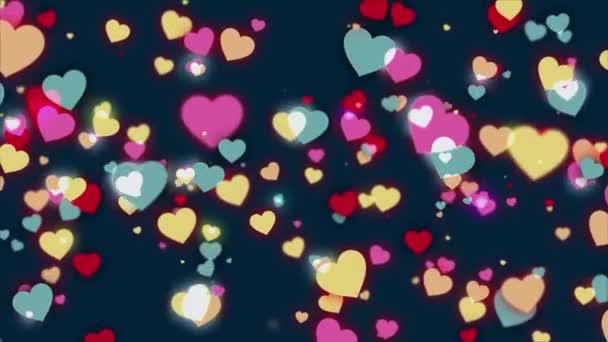 4 k bez problémů loopable animace srdcí pro Valentýn.