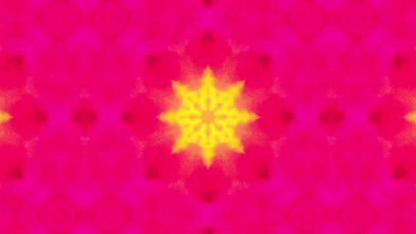 4k Kaleidoskopická smyčka. Ročník styl Mandala umění animovaný vzor pozadí.