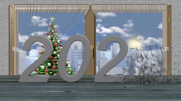 Film. 3D ilustrace. Nový rok2021. Nový rok 2021 v číslech. 2020 exploduje a vznikne rok 2021