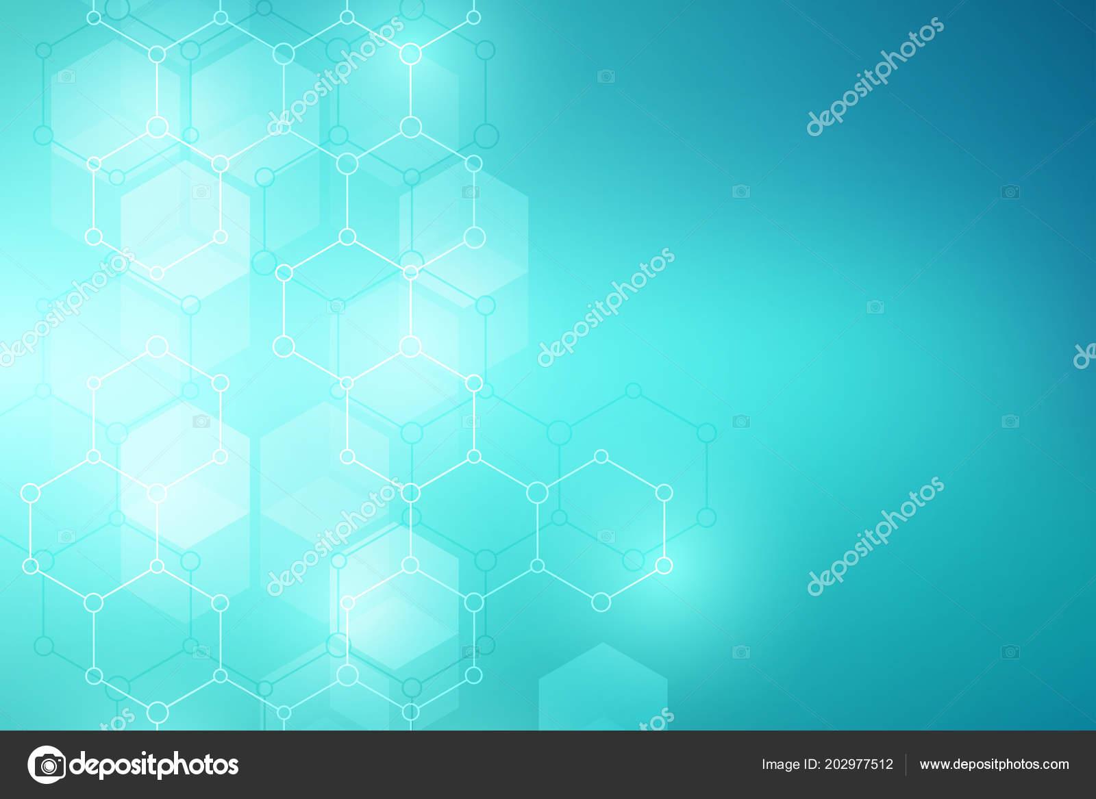 Fondo Estructura Molecular Resumen Antecedentes Con Molécula