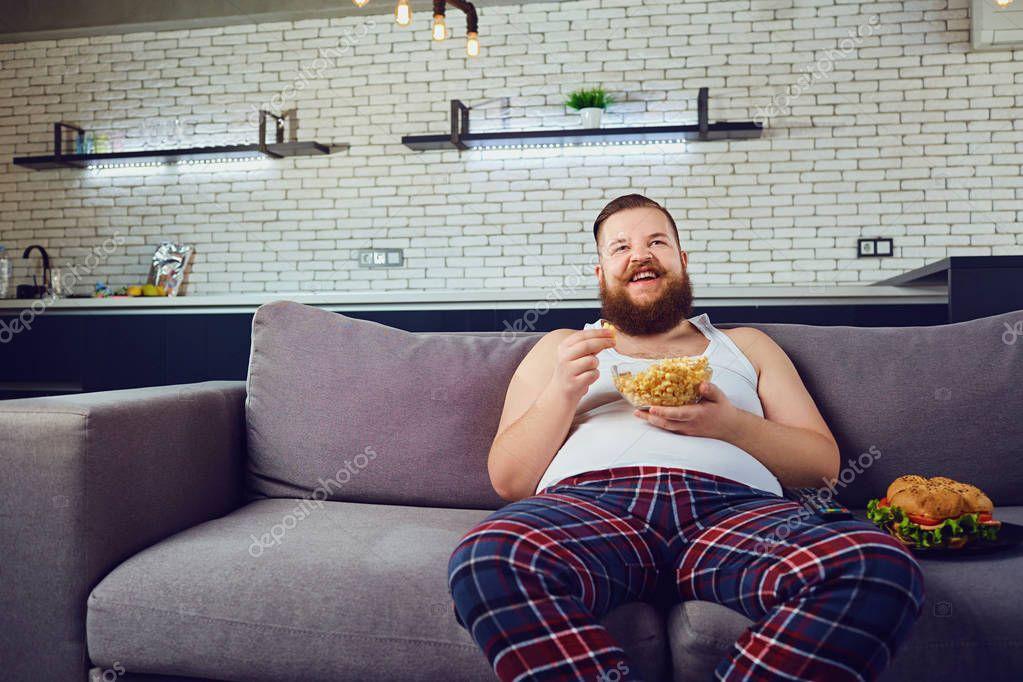Сделать, картинки толстяк на диване