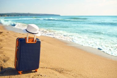The concept of a summer holiday by the sea.