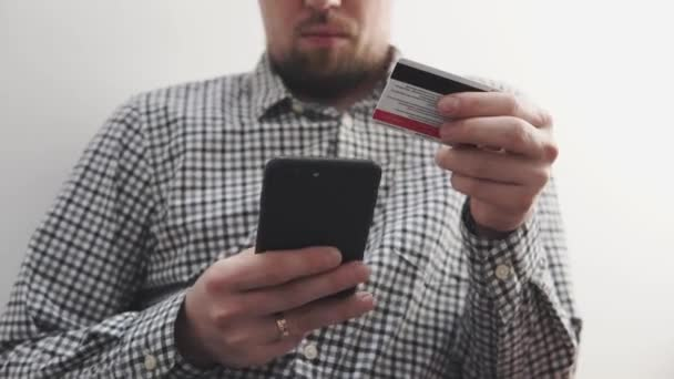 Using online payment on smartphone.
