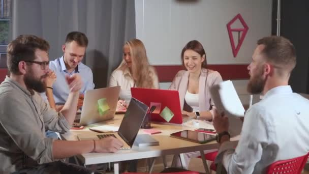 Young business team in the office.