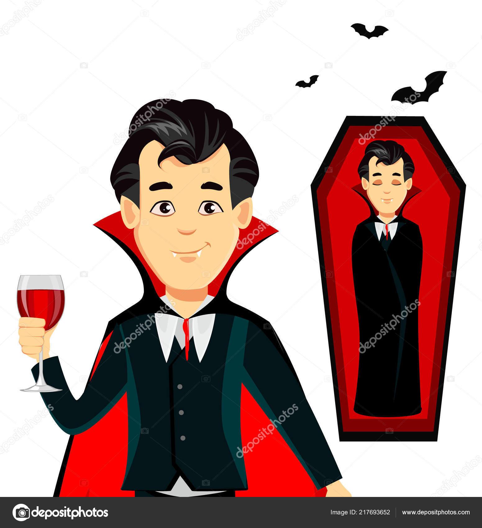 Felice halloween personaggio dei cartoni animati vampiro
