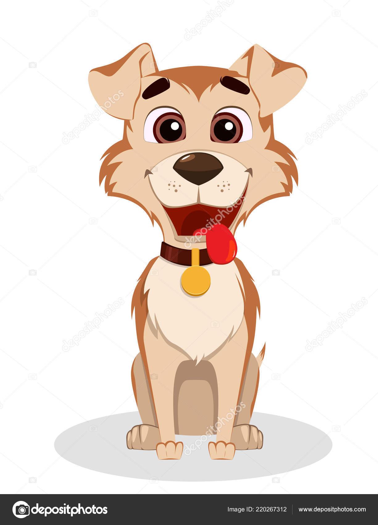 Cane divertente carino personaggio dei cartoni animati cucciolo