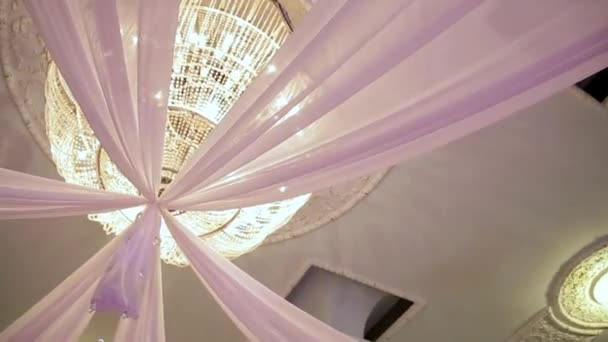Wedding decorations with flowers, hearts, butterflies. Wedding ceremony.