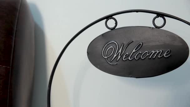 Vítejte kovových štítků a starý styl, vintage tón.