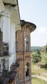 Windows of abandoned castle in Perak, Malaysia