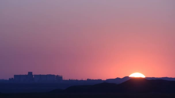 Stunning dawn over the industrial zone.