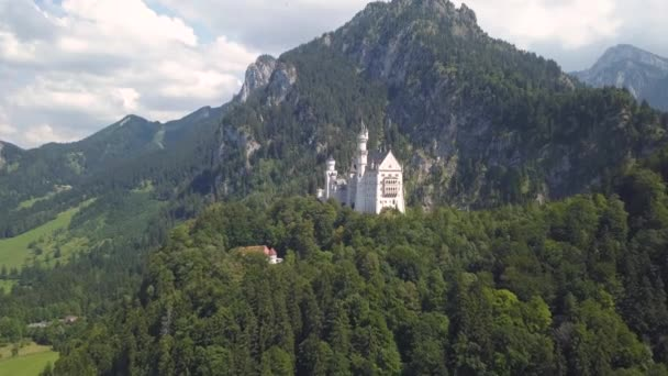 Veduta aerea del Castello di Neuschwanstein