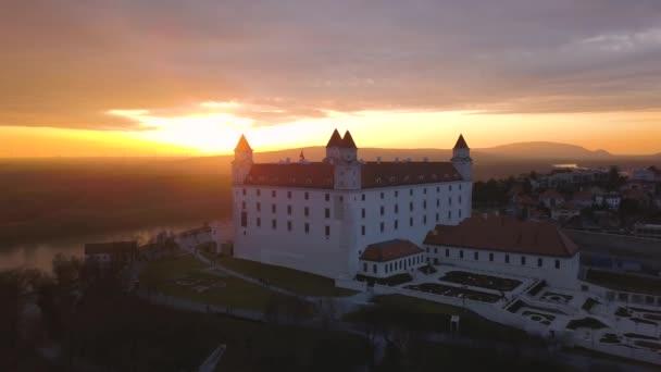 Letecký pohled na Bratislavsky Hrad
