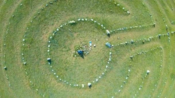 Letecký pohled na kamenné kruhy