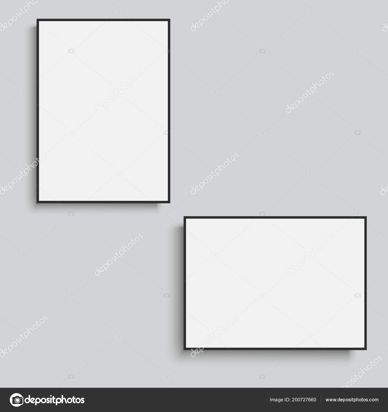 White Horizontal And Vertical Frames Vector Stock Vector