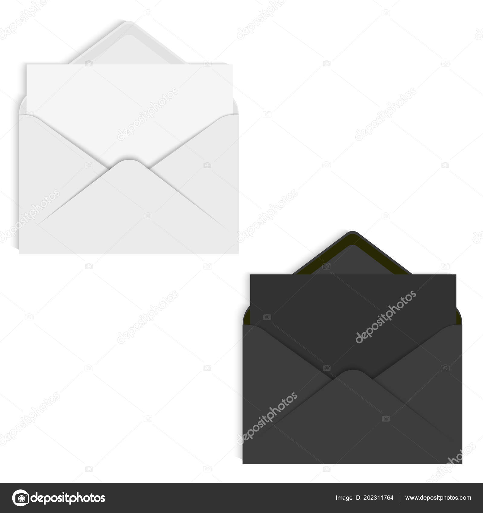 Realistic mockup envelope for letter or invitation card vector realistic mockup envelope for letter or invitation card vector stock vector stopboris Image collections