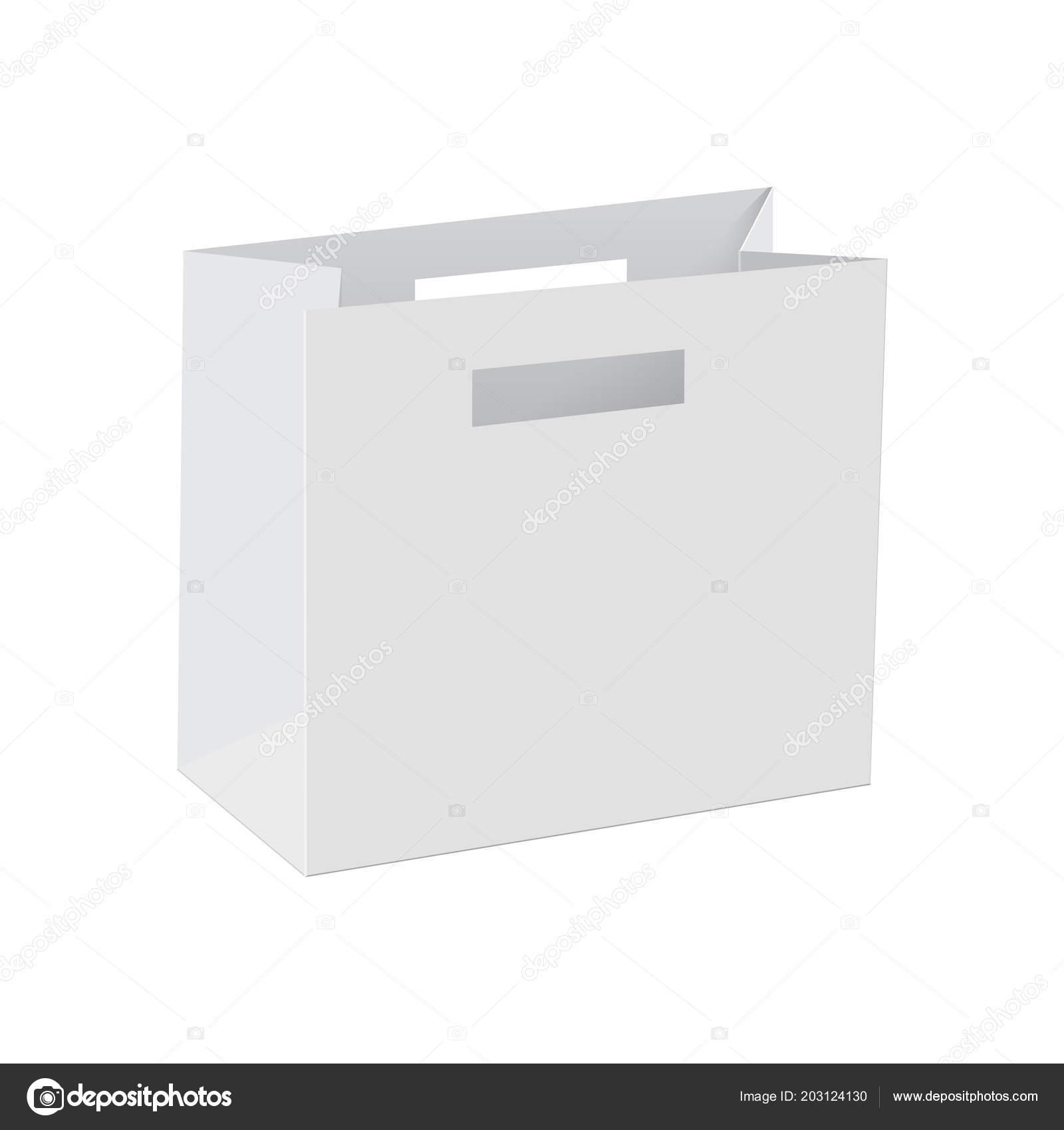 blank of paper bag template vector stock vector azfree 203124130