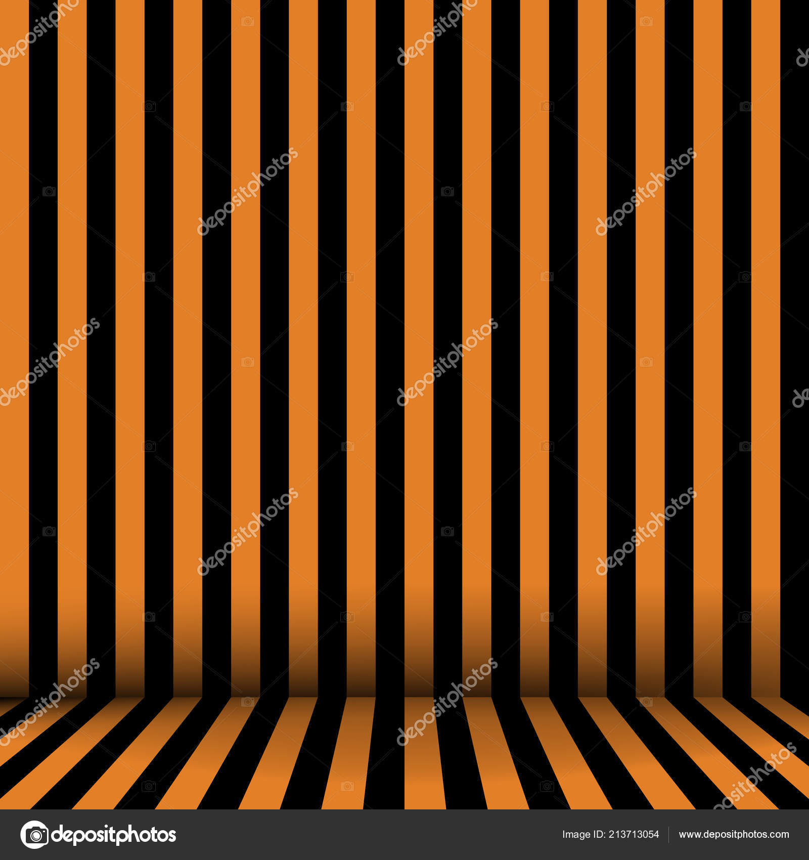 Captivant Chambre En Orange Et Noir à Rayures Fond Du0027Halloween. Vectoru2013 Illustration  De Stock