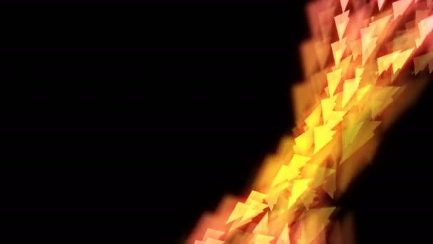 Abstraktní bokeh světle jiskří papírové letadlo létající vzor žlutá a růžová barva přechodu obrázku na tmavém pozadí, bezešvé, opakování animace 4k s opustil prostor kopie