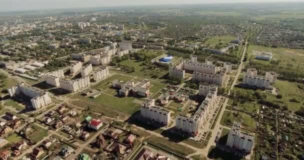 Nádherné moderní město střední část s elegantní zelené okresů a vícepodlažní budovy