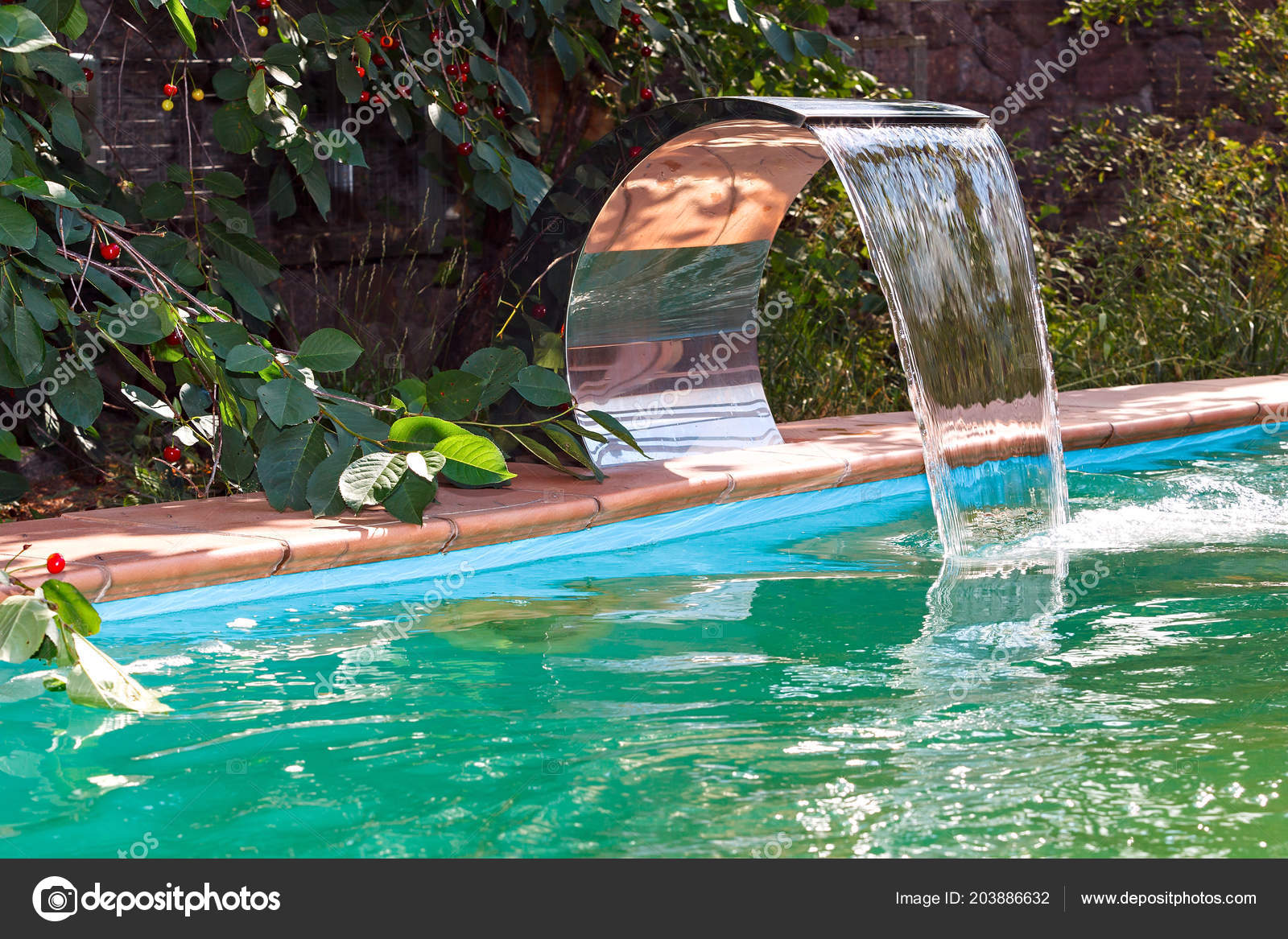 Water Supply Pool Waterfall Recirculation Cleaning System ...