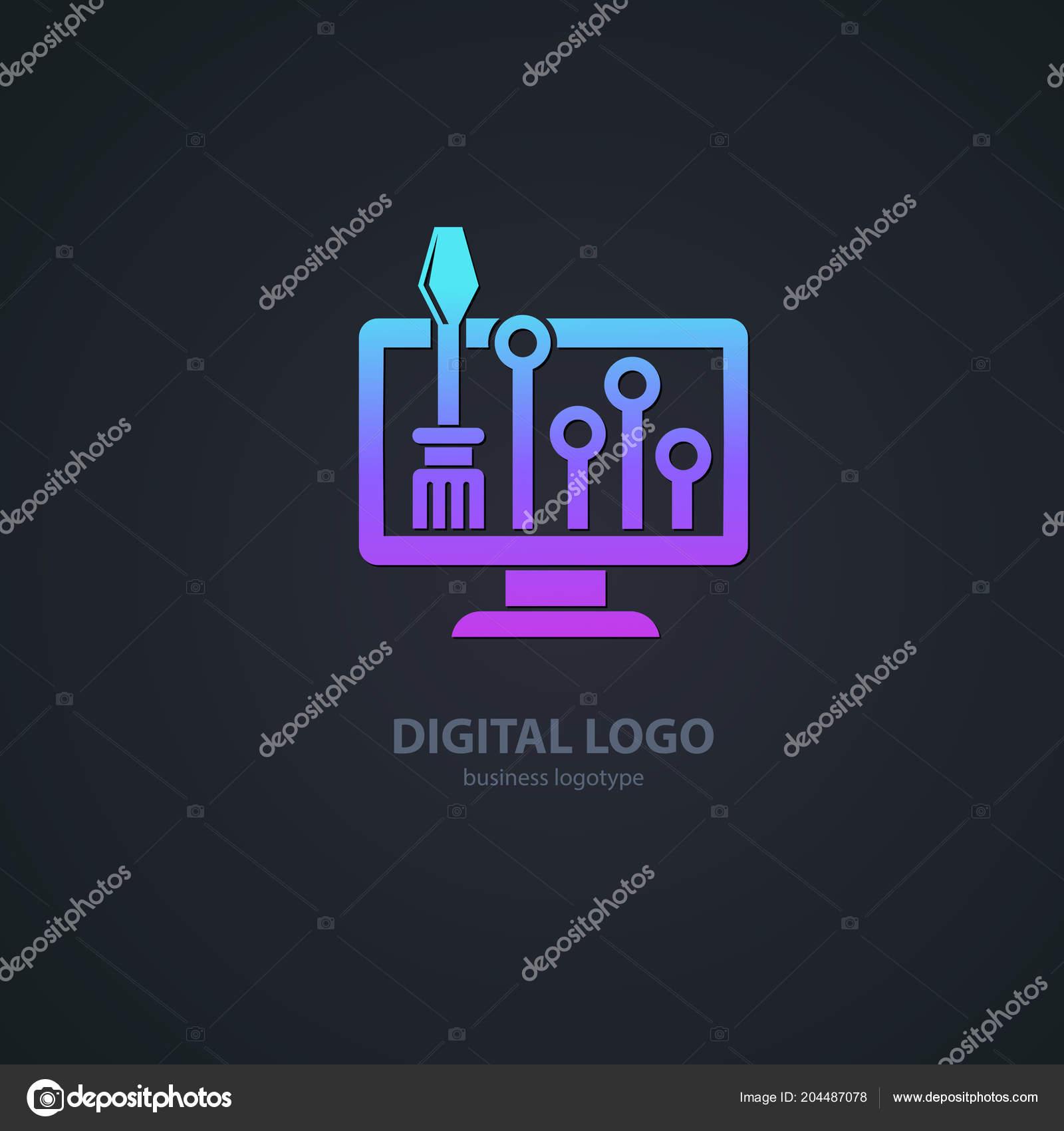 Conception Illustration Logiciels Logo Entreprise Icône Vecteur