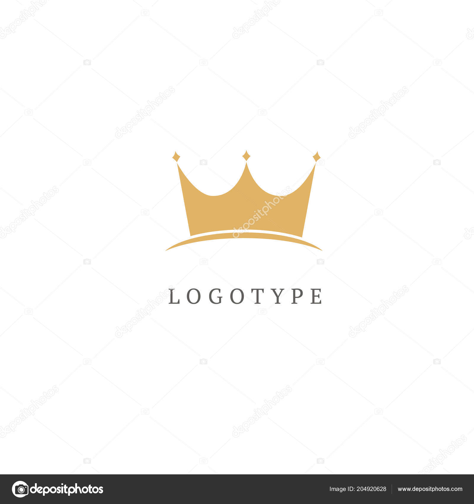 Illustration Design Elegant Premium Royal Logotype Queen King Crown