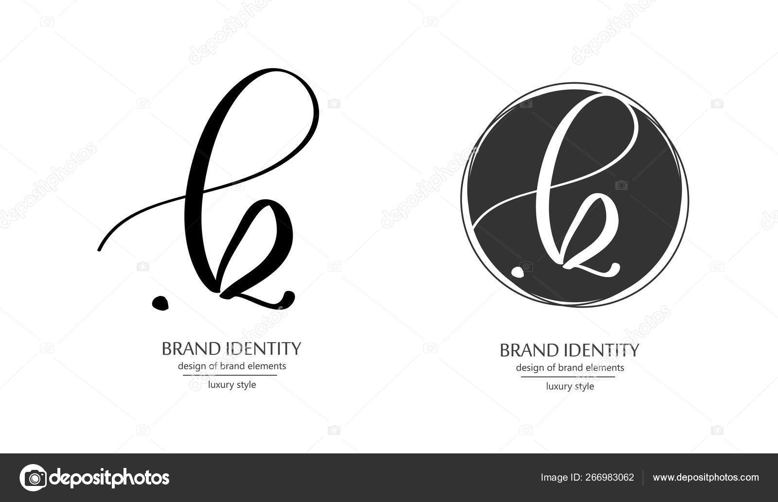 Creative Hand Drawn Monogram Calligraphy Brand Identity Logo
