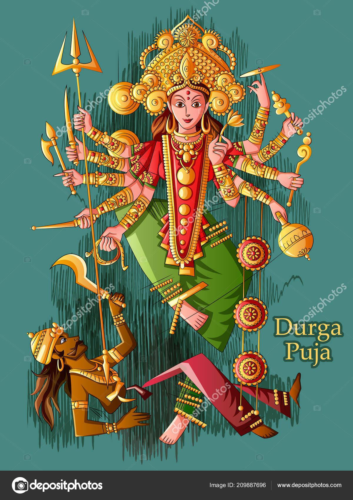 Indische Göttin Durga Skulptur Für Durga Puja Urlaub Festival Of