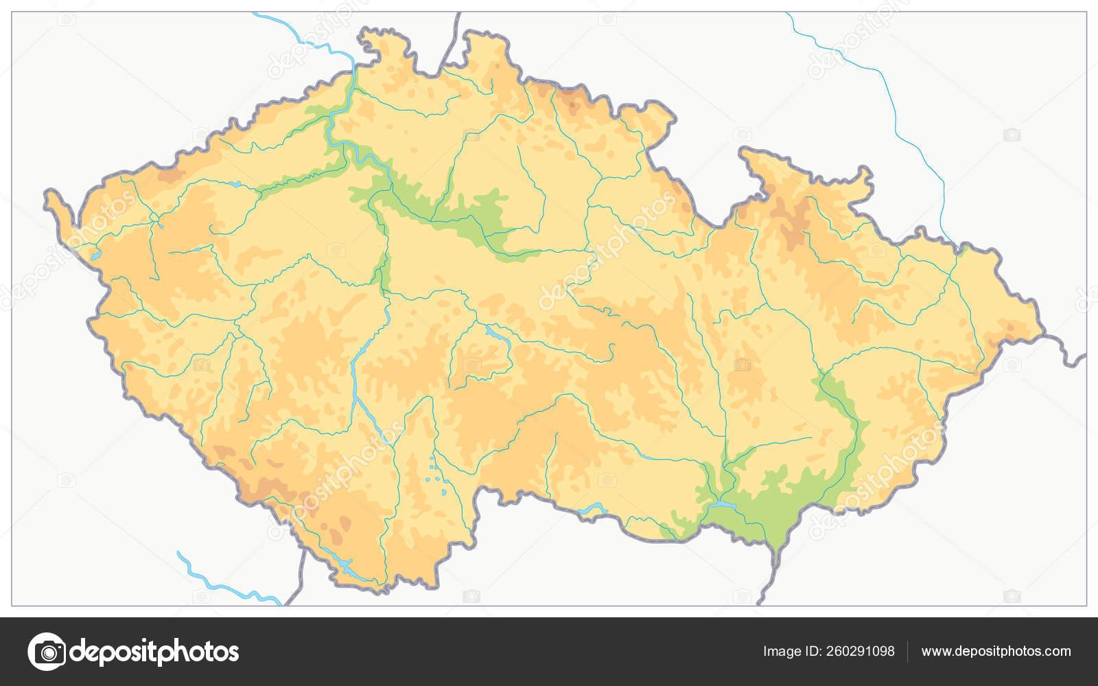 Picture of: Czech Republic Physical Map No Text Stock Vector C Cartarium 260291098