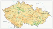 Fyzická Mapa České republiky