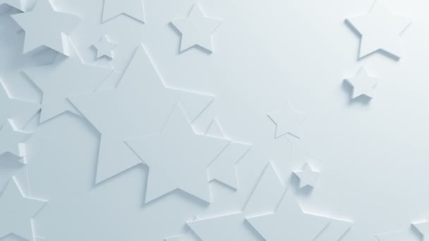 Beautiful White Stars On Surface Moving In Seamless 3d Animation