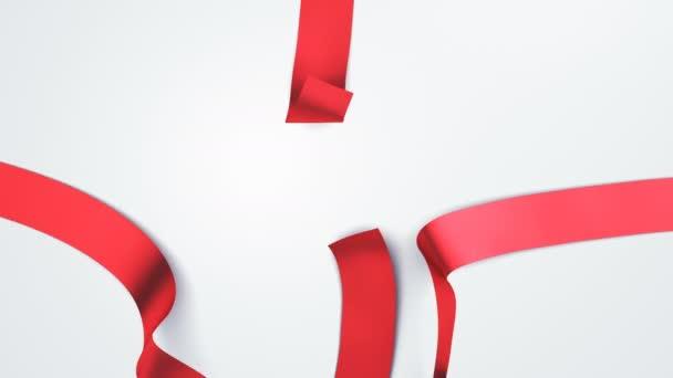 Otevření krásné dárkové krabičky s stuhy a velký luk. 5 videí v 1. Rozbalení dárkového prvky 3d animace na zelené obrazovce alfa kanál. Uvolnění dekorativní uzel. 4 k Ultra Hd 3840 x 2160