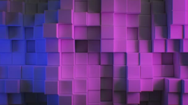 Beautiful Abstract Cubes In Blue And Purple Ultraviolet Light Looped 3d Animation Color Wall Moving Seamless Background In 4k Ultra Hd 3840x2160