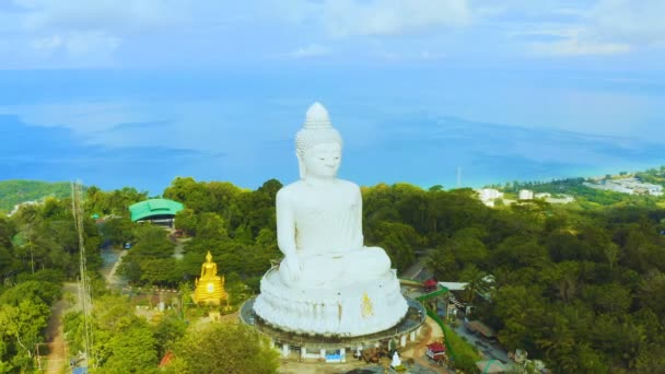areial view amazing rainbow cover Phuket big Buddha.Phuket Big Buddha is one of the island most important and revered landmarks on the island.