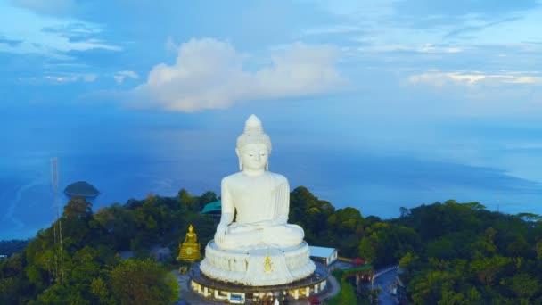 areial view amazing rainbow cover Phuket big Buddha.Phuket Big Buddha is one of the island most important and revered landmarks on the island.