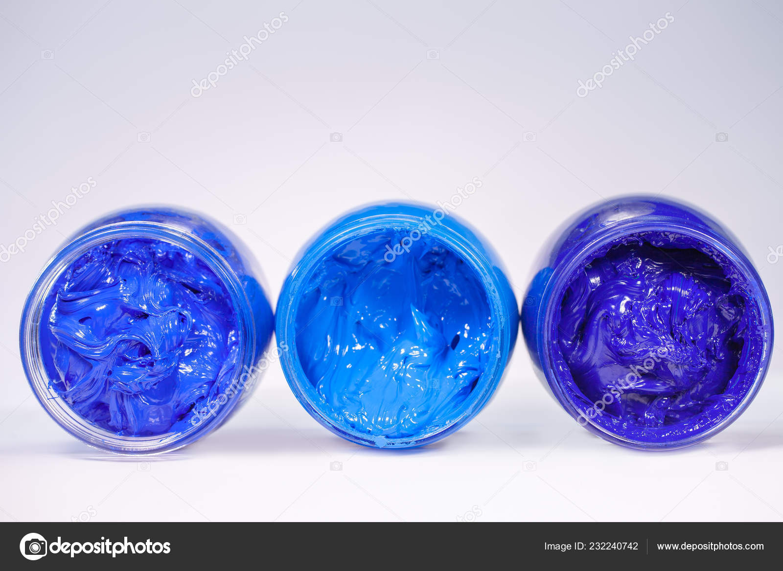 Light Blue Blue Dark Blue Colors Cool Tone Color Ink Stock