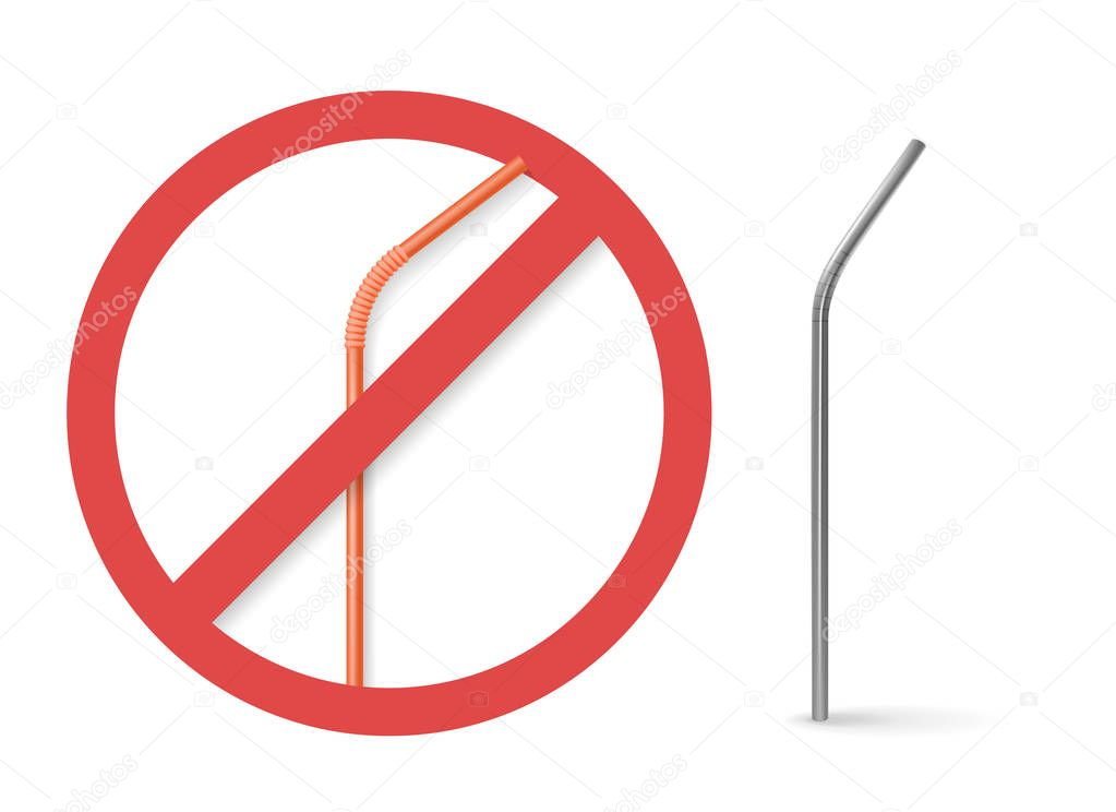 Reusable steel drinking straw instead of plastic straw.
