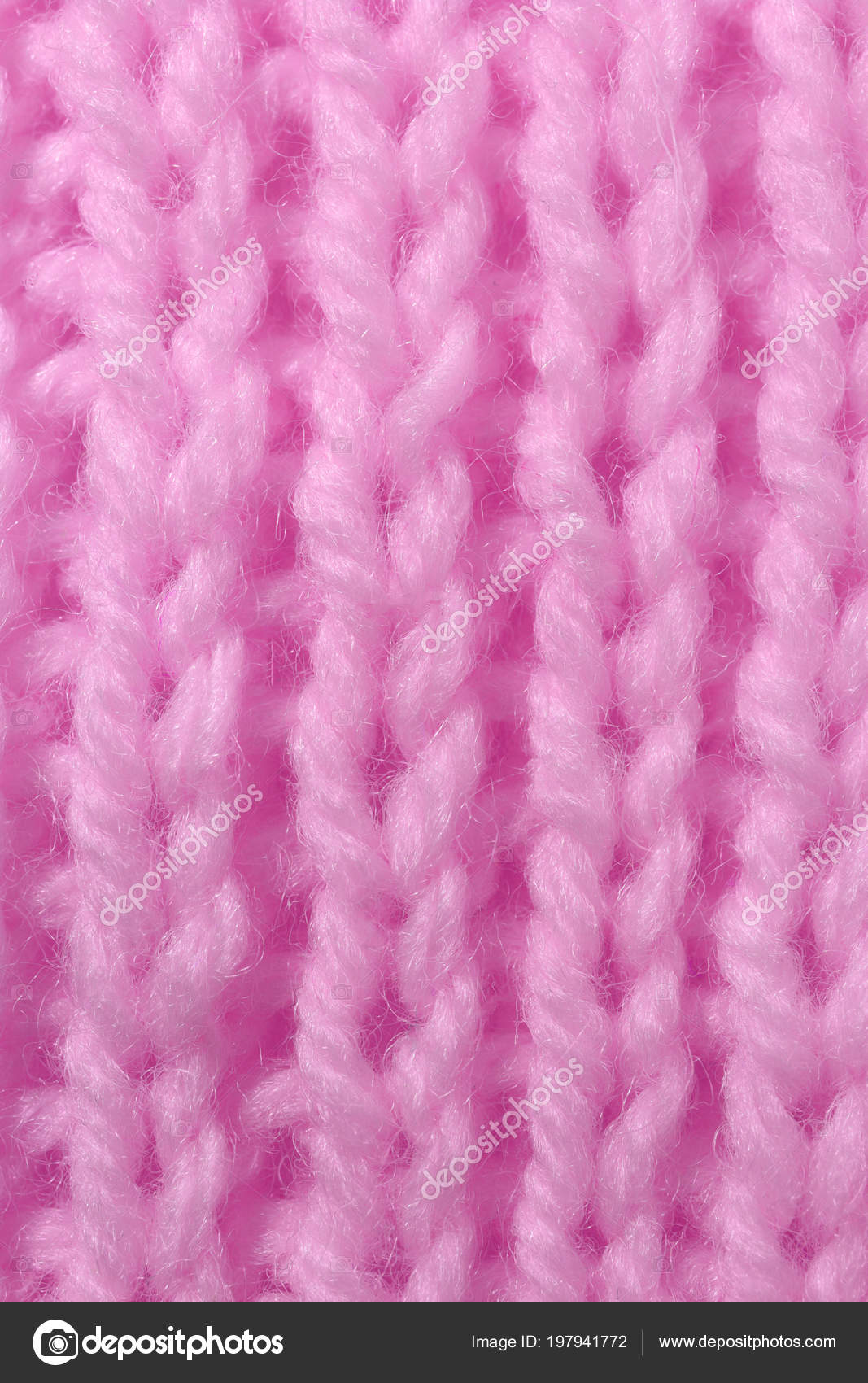 Pink Wool Knitting Texture Vertical Weaving Crochet Detailed Rows