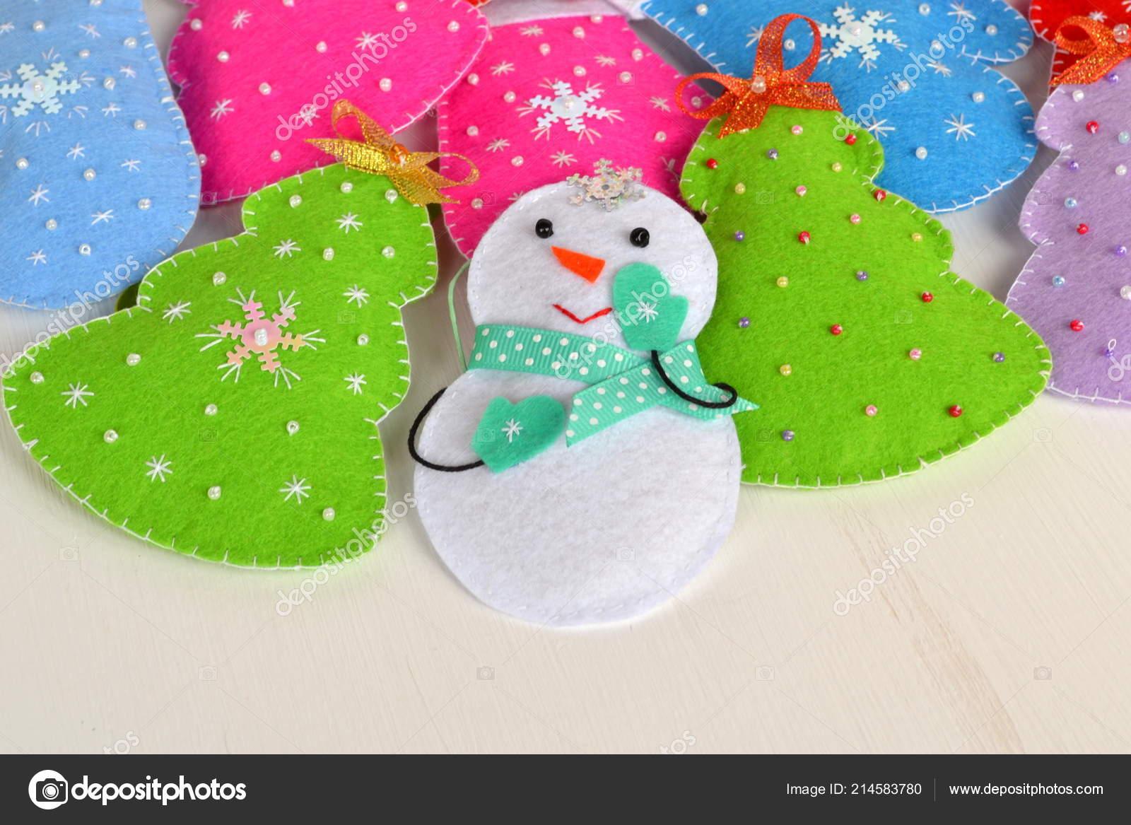 Simple Christmas Crafts.Handmade Felt Christmas Toys Christmas Felt Ornaments Cute