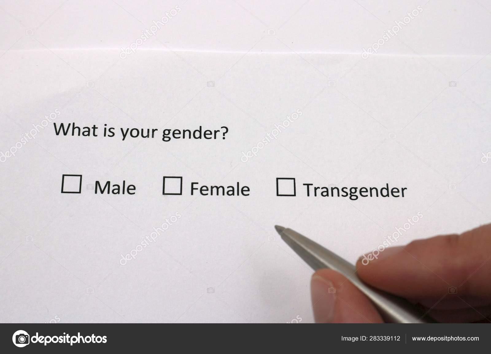 Male, female or transgender? Gender identity in survey
