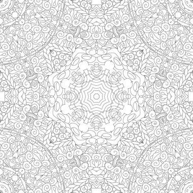 """Картина, постер, плакат, фотообои """"Бесшовный шаблон zentangle. Декоративные необычные квадратные орнаменты."""", артикул 271301060"""