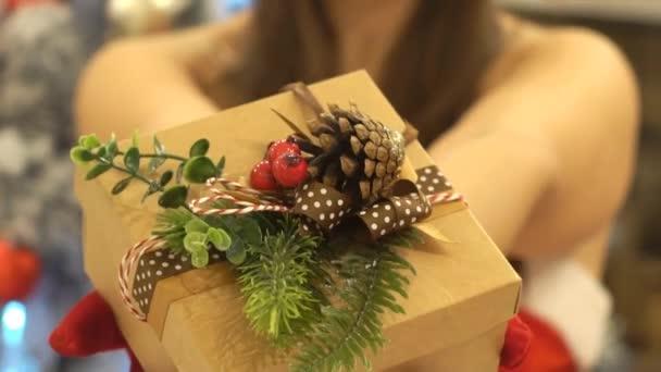 Asszonyt, amely jelen ajándékdoboz karácsonyra