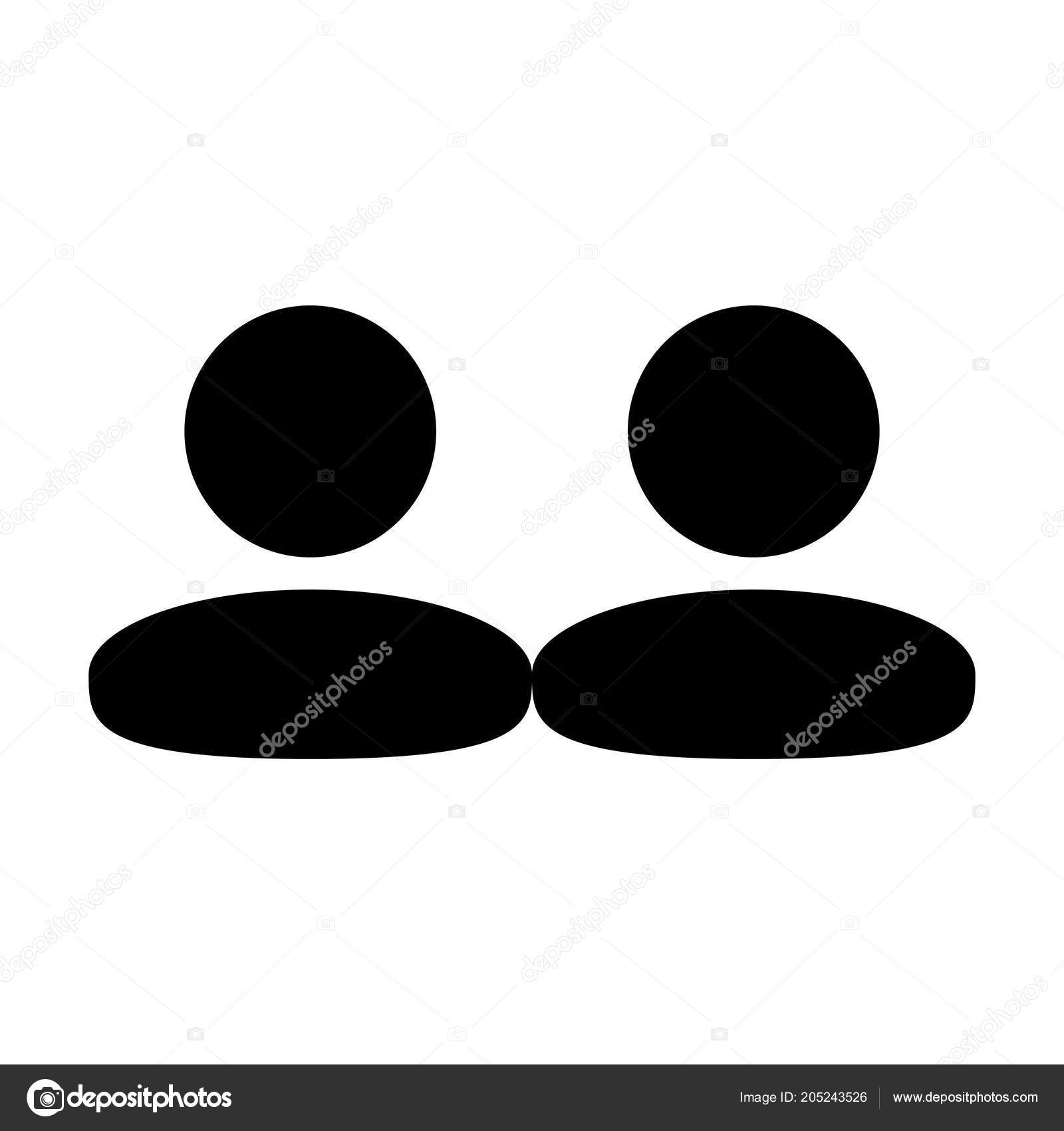Client Icon Vector Male Group Persons Symbol Avatar Business Flat